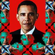 Obama Abstract Window 20130202verticalp0 Art Print