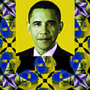 Obama Abstract Window 20130202verticalp55 Print by Wingsdomain Art and Photography
