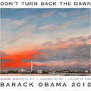 Obama Campaign Poster 2012 Print by William Van Doren