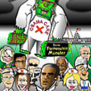 Obama Care Frankenstein Balloon Art Print