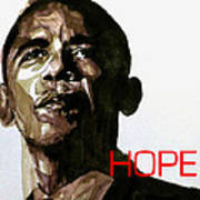 Obama Hope Art Print by Paul Lovering