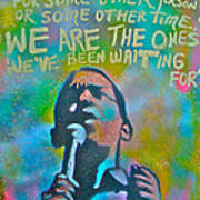 Obama In Living Color Print by Tony B Conscious