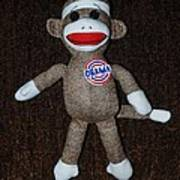 Obama Sock Monkey Art Print