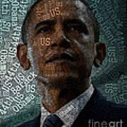 Obama Text Art Art Print