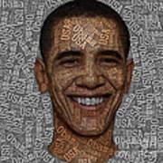 Obama Typography Text Art Art Print