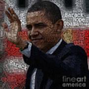 Obama Usa Typography Design Art Print