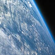 Oblique Shot Of Earth Art Print by Adam Romanowicz