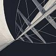 Obsession Sails 7 Black And White Art Print