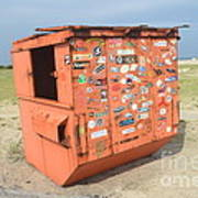Obx Beach Dumpster Art Print