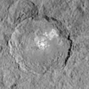 Occator Crater Art Print