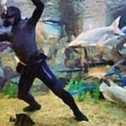 Ocean Aquarium In Shanghai Art Print