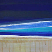 Ocean Blue Art Print by Linda Woods
