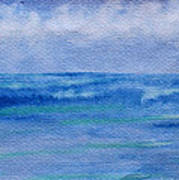 Gentle Ocean Waves -  Original Watercolor Art Print