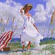 Ocean Breeze Blues Art Print