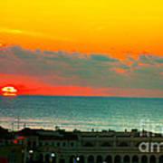 Ocean City Sunrise Over Music Pier Art Print