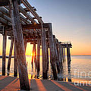 Ocean Grove Pier Sunrise Art Print