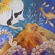 Ocean Hang Out Art Print by Summer Celeste