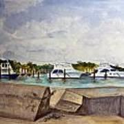 Ocean Inlet Marina Art Print