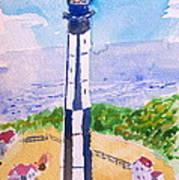 Ocean Lighthouse Art Print