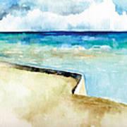 Ocean Pier In Key West Florida Art Print