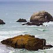 Ocean Rocks Near San Francisco Ca Cliff House Art Print