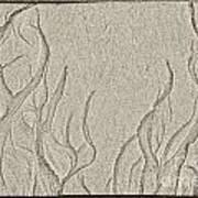Ocean Sand Art Below Art Print