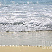 Ocean Shore With Sparkling Waves Art Print