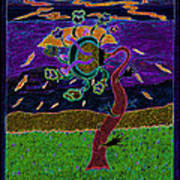 Ocean Side Flower At Sun Set    V3 Art Print