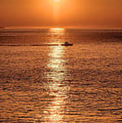Ocean Sunrise At Montauk Point Art Print