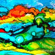 Ocean Tempest Tile Art Print
