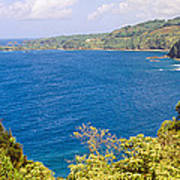 Ocean View From The Road To Hana, Maui Art Print