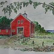 Oceanside Farm Art Print