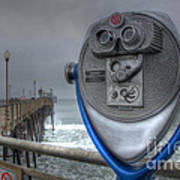 Oceanside Pier California Binocular Vision Print by Bob Christopher