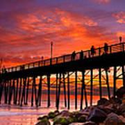 Oceanside Sunset 12 Art Print
