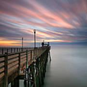 Oceanside Sunset 14 Art Print