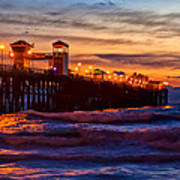 Oceanside Sunset IIi Art Print