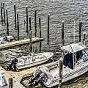 Ocnj Boats At Marina Art Print
