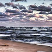 October At The Beach Saugatuck Michigan Art Print