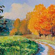 October Backroad Art Print