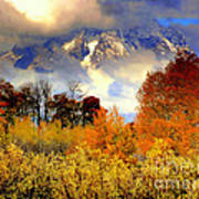October In Grand Tetons Art Print