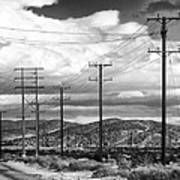 October Road Palm Springs Art Print