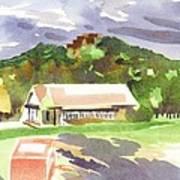 October Shadows At Fort Davidson Art Print