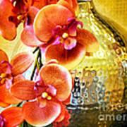 October's Orchids Art Print