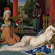 Odalisque With Slave Art Print by Ingres