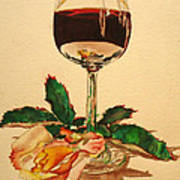 Of Wine And Roses Art Print