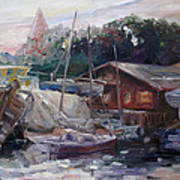 Off Hours At The Ship Yard In Kirchdorf Island Poel Art Print