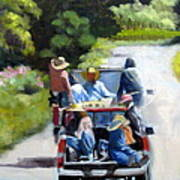 Off To The Vineyards Art Print