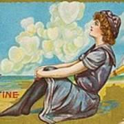 Oh Be My Valentine Postcard Art Print