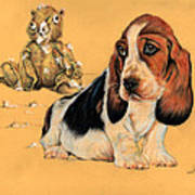 Ohhh Eee Teddy Bear Art Print