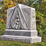 Ohio At Gettysburg - 29th Ohio Volunteer Infantry Autumn Mid-afternoon Culp's Hill Art Print by Michael Mazaika